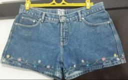 Um Short Jeans Bordado - Feminino - Taco - Tam 44