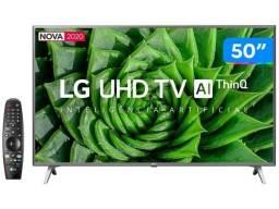 """Smart tv 4k 50 """" lg controle comando de voz alexia e muito mais"""