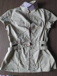 Camisa de manga curta Carmim - P/PP