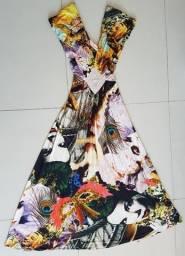 Vestido contemporâneo Victor Dzenk semi nova