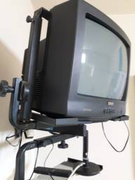 "TV 14"", Receptor Orbisat Digital, Suporte para TV, Conversor Digital"