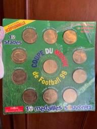 Medalhas Souvenirs Copa do Mundo de Futebol 1998