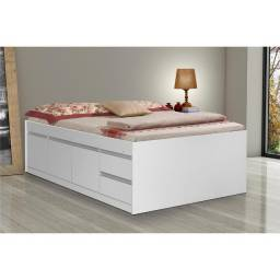 Cama baú, com gavetas e colchão D45 - R$ 300,00