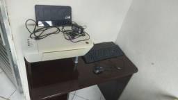 Título do anúncio: Mesa para PC Gamer + teclado + mouse+ impressora HP