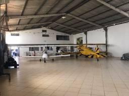 Hangar no Aeroclube de Brasília