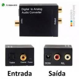 Conversor Digital para Analogio Conversor Cabo Óptico Rca XT-5528