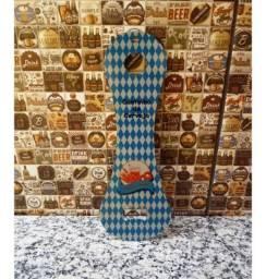 Abridor de garrafa Gigante Alumínio Cinza Personalizado tema cerveja nome foto comprar usado  Rio de Janeiro