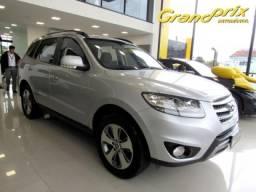 SANTA FÉ 2012 2.4 MPI 2WD 16V GASOLINA 4P AUTOMÁTICA PRATA TOP DE LINHA ÚNICO DONO! - 2012
