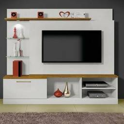 R$ 699 Estante Home para TV até 65 Polegadas com LED 1 Gaveta Flórida Mavaular Canion