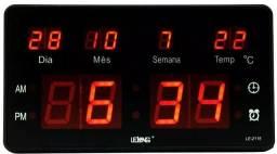Relógio Led Parede e Mesa Recepção Academia Eacola