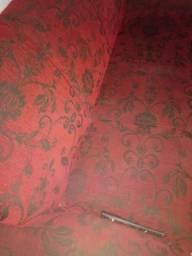 Vendo sofá em L preto com vermelho