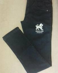 Fardamentos - Calças Jeans com Lycra e coloque a sua LOGO MARCA Bordada da sua Empresa