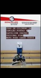 JOGO DE CILINDRO DE IGNIÇÃO , PORTAS E CAPUZ ( COM CHAVES)