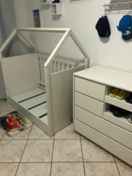Berço (mini cama) e cômoda montessoriana Quater