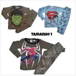 Pijamas de personagens menino (somente as estampas das fotos)