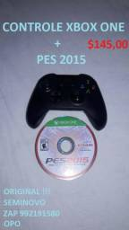 Controle xbox one + pes 2015