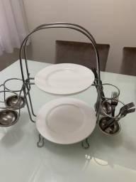 Suporte de mesa para pratos e talheres