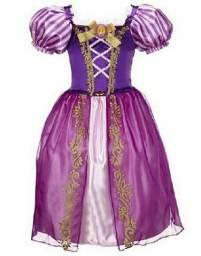 Vestido fantasia infantil Rapunzel entrega gratuita em toda baixada