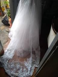 Vestido de noiva tamanho P/M ,usado uma vez
