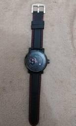 Relógio Analógico Puma Preto Original de cx grande, pulseira de Silicone