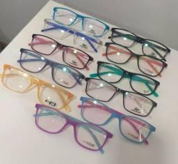 Óculos de grau completo (feminino, masculino e infantil)