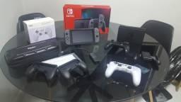 Nintendo Switch (Modelo Novo) + Conta Nintendo + Acessórios
