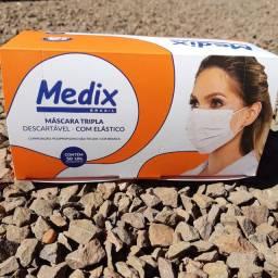 Promoção! Máscaras Descartáveis Tripla Medix C/NF Caixa C/50 C/Anvisa