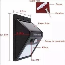Título do anúncio: Luminária Led Arandela Solar 30 Leds Com Sensor De Presença