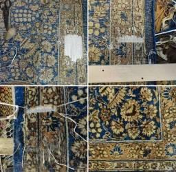 Lavação e Restauração de tapete persa