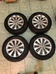 Rodas aro 15 original do virtus com pneus 195/65 R15