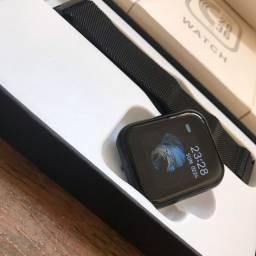 Smart Watch t80 (duas pulseiras e põe foto no papel de parede)