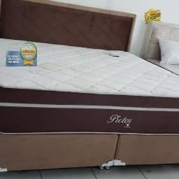 Promoçao cama Box + Colchao Montreal king 193x203 A Pronta Entrega