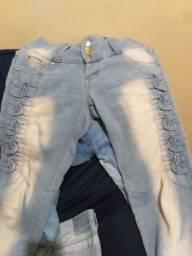Calças jeans 38 e 40 tudo por 50,00