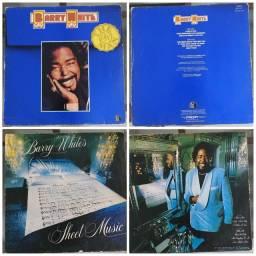 Lote com 2 discos de vinil Barry White