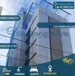 Novo +Flat Intermares +1 Qt+ 1 Sala + 28m +Piscina +Elevador