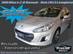Peugeot 308 Allure 2.0 Flex Manual - Ano 2013 com Teto Panorâmico