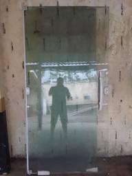 Porta de vidro completo