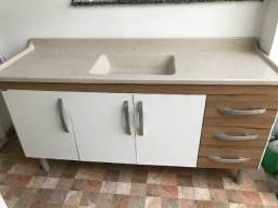 Pia de cozinha com gabinete