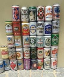 Coleção com 209 latas de cerveja e refri, Nacionais e Importadas