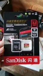Cartão de memória Novo 4K SanDisk + Brinde