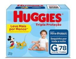 FRALDA HUGGIES 78 UNIDADES