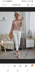 Blusinha de lã torcida - cor Rosa empoeirada - P