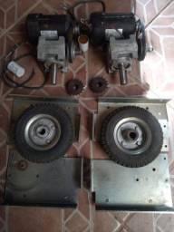 Kit com 2 rodas mavidas por caixa de reduçao