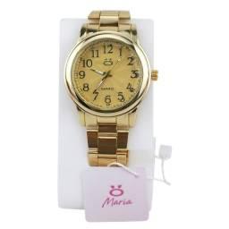 Relógio Analógico Feminino Rmas1 Pulseira em Aço Cor Dourado