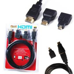 Cabo 3 In 1 Hdtv 1,5m High Speed HDMI - Mini - Micro - Imperium Informatica