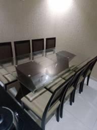Mesa 8 cadeiras Vidro 8mm