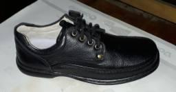 Sapatos em couro legítimo gel