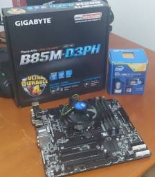 Título do anúncio: Kit Upgrade I7: Placa Mãe B85M + Processador I7 + 16gb