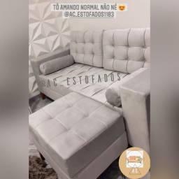 Título do anúncio: Lindos sofas tokio tecido suede e jolie