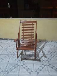 Cadeira dobrável espreguiçadeira de madeira